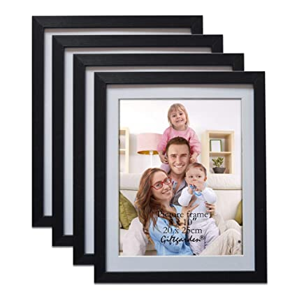 91117e4a6 Amazon.com  Giftgarden Black 8x10 Picture Frame Wall Decor for 8 by 10 Inch  Photo Set of 4  Home   Kitchen