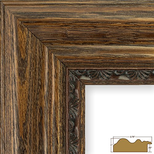 Craig Frames 81373100, Dark Brown Oak Picture Frame, 8 by 10-Inch (Moulding Oak Picture Frame)