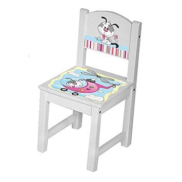 Kinder Stühle Tisch Sitzgruppe Kinderstühle massiv Holz Hund ...