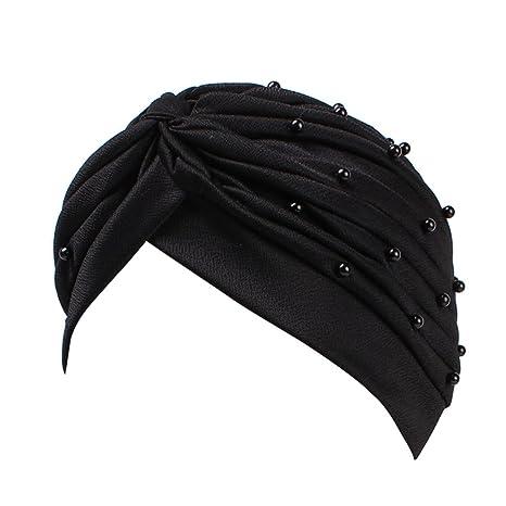 Feli546Bruce - Sombrero de Mujer Turbante con Perlas Falsas ...