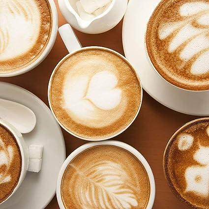 uso para caf/é con leche plantillas pl/ásticas de artes de caf/é chocolate caliente magdalenas capuchino 16 plantillas de decoraci/ón de caf/é pasteles
