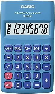 Calculadora de Bolso Vertical com Visor 8 Dígitos, Casio, HL-815L-BU, Azul