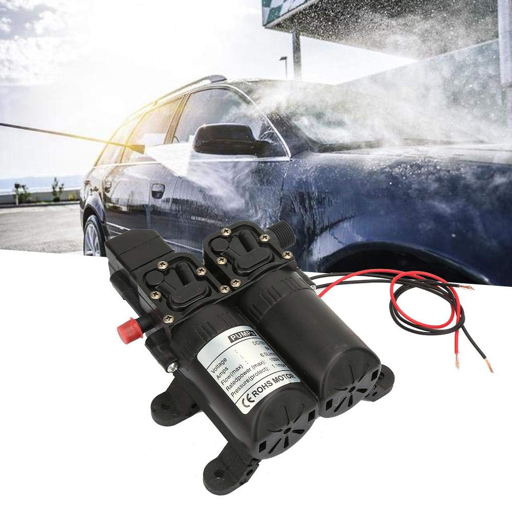 bateaux /Pompe /à eau voitures pompe /à eau /électrique /à membrane auto-amor/çante /à double aspiration 12V 100W etc. noir pour le nettoyage de caravanes