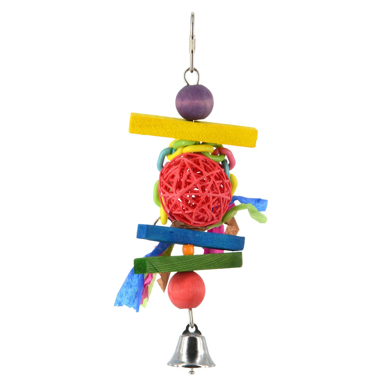 Animal Treasures LBW-0288 Birdie Jingle Mardi Gras Bird Toys