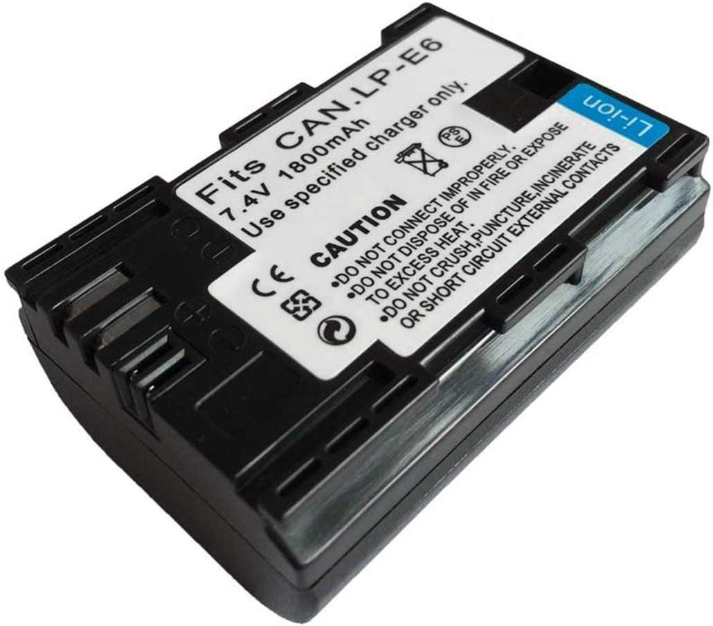 Cargador de batería LP-E6 para Canon EOS 5D Mark II III y IV, 70D, 5Ds, 6D, 5Ds, 80D, 7D y 7D Mark II, cámaras 60D(Negro): Amazon.es: Electrónica