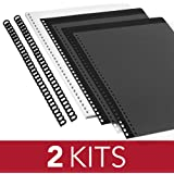 """GBC ProClick The Do-It-Yourself Presentation Kit, Includes 5/16"""" Diameter Spines, Paper, Covers, 2 Kits per Pack (2515665)"""