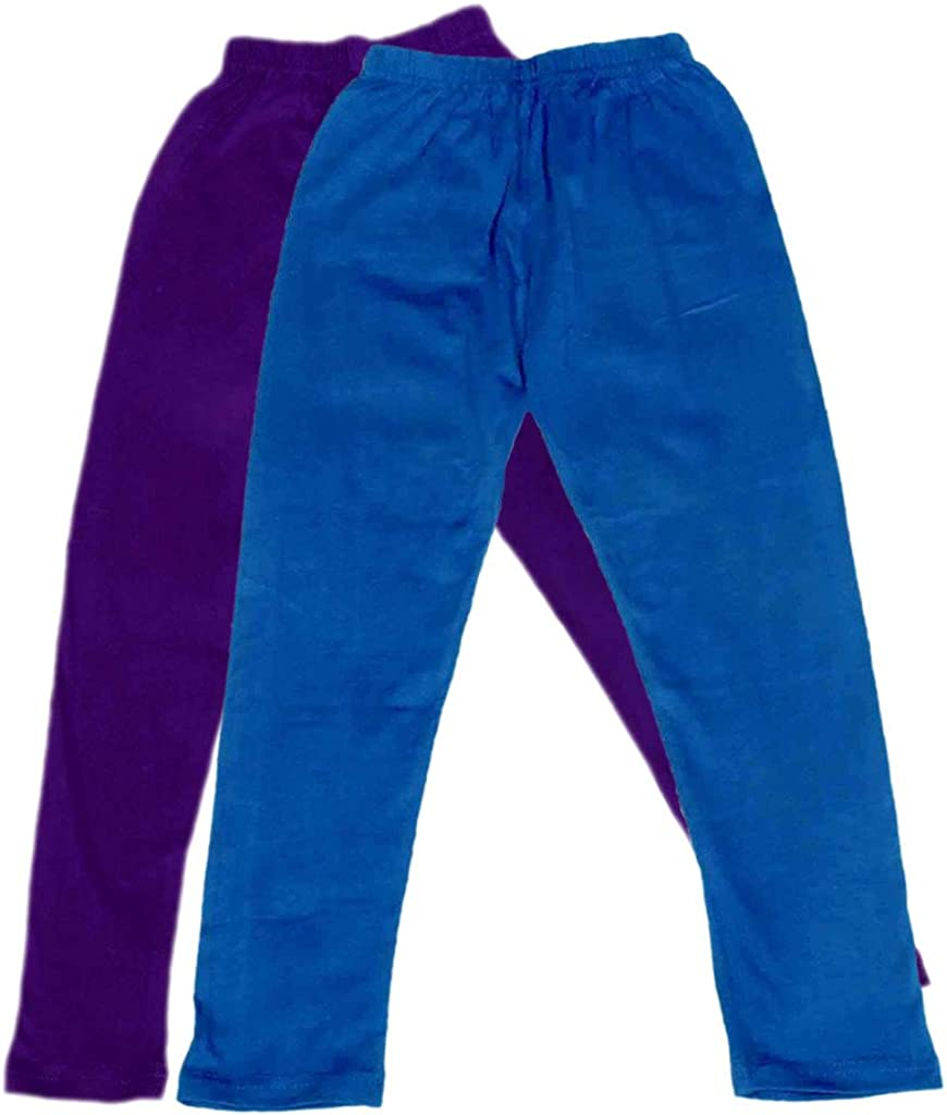 Pack of 2 Indistar Boys Super Soft Ankle Length Cotton Lycra Leggings