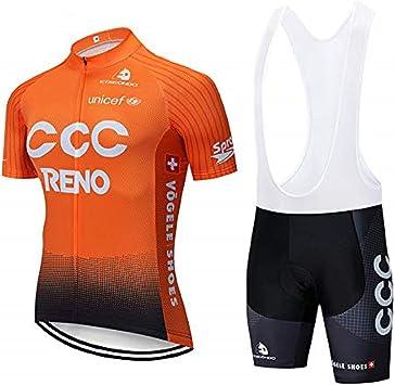 SUHINFE Maillot Ciclismo Hombre, Ropa Ciclismo y Culotte Ciclismo con Culotte Pantalones Acolchado 3D para Deportes al Aire Libre Ciclo Bicicleta: Amazon.es: Deportes y aire libre