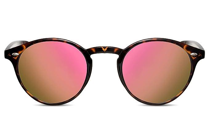 Cheapass Gafas de Sol Redondas Unisex Demi con Cristales ...