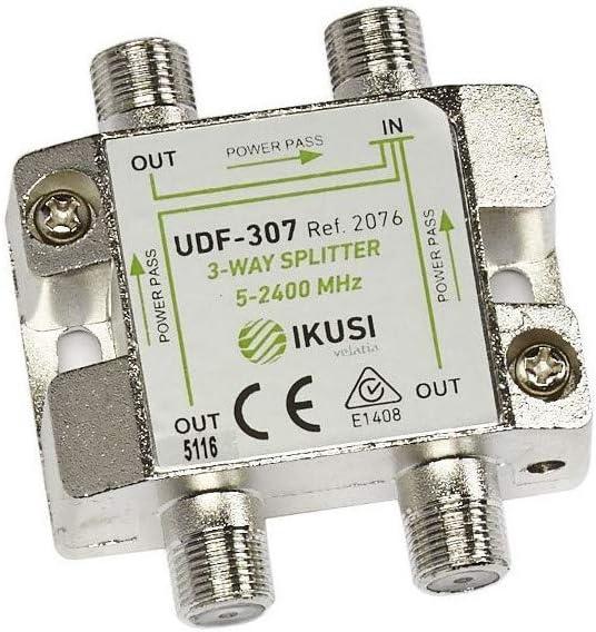 IKUSI - Distribuidor 3 Salidas. con Paso de Corriente: Amazon ...
