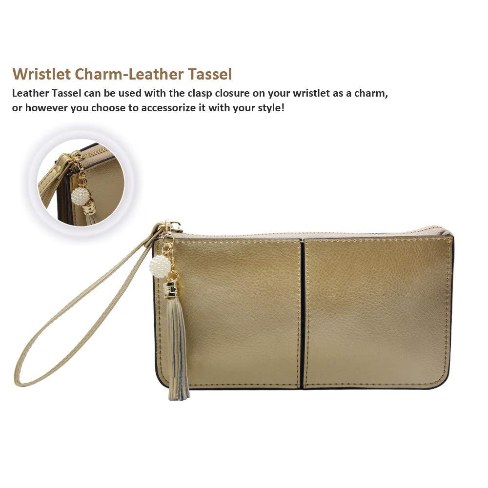 Befen Soft Leather Wristlet Phone Wristlet Wallet Clutch with Wrist Strap/Card slots/Cash pocket- Fit iPhone 6S Plus/Samsung Note 5 – Light Gold by befen (Image #5)