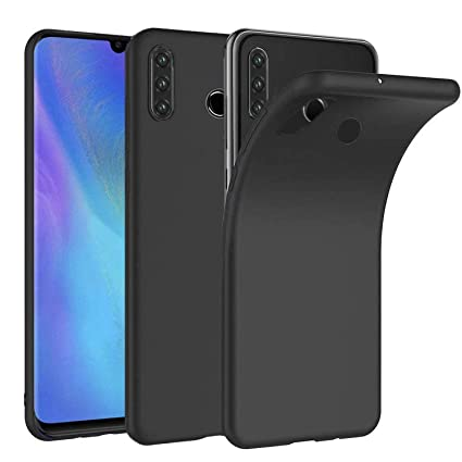 negozio online 0d33a 599a8 Superyong Huawei P30 Lite Case,Huawei P30 Lite Cover Slim Matte Black Soft  TPU Case for Huawei P30 Lite Smartphone-Black