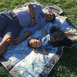 Jj Cole Outdoor Blanket, 5\'X\'5 Blue Iris