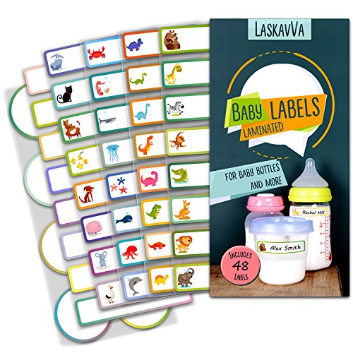 Baby Bottle Labels for Daycare - Kids Adhesive Name Tags - Personalized Labels - Dishwasher Safe - Waterproof - Self-Laminating Stickers hot sale