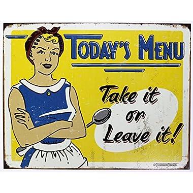 Schonberg - Today's Menu Tin Sign