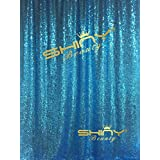 ShinyBeauty Sequin Backdrop - Backdrop Photography and Photo Booth Backdrop for wedding, Party, Photography, Curtain, Birthday, Christmas, Prom Decoration & Other Event Decor - 4FT*6FT (Turquoise)