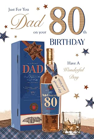 Dad 80th Birthday Card Quality Lovely Verse Amazoncouk Office Products