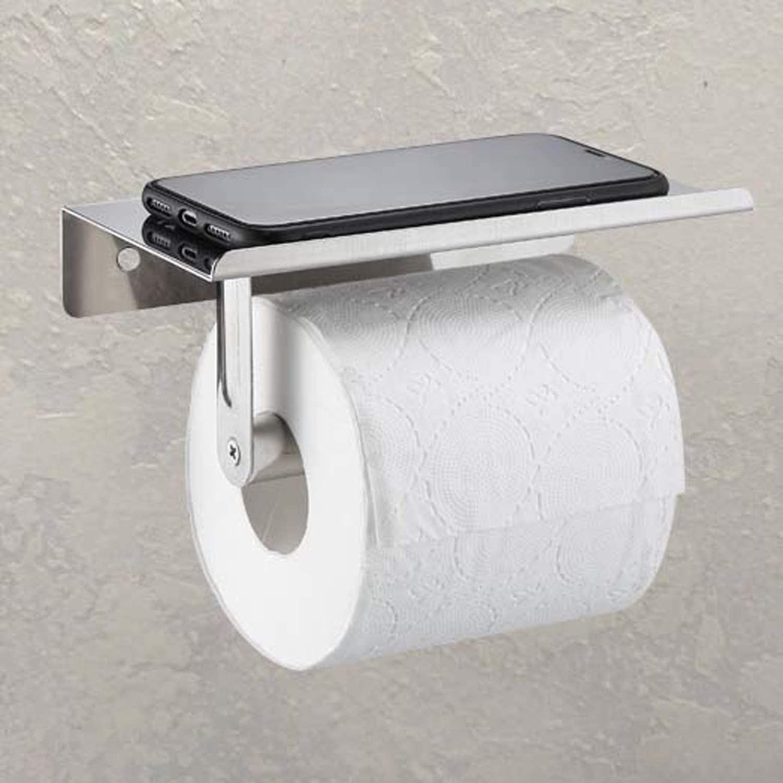 Stainless Steel Bathroom Toilet Wall Mount Toilet Tissue Paper Roll Holder Rack