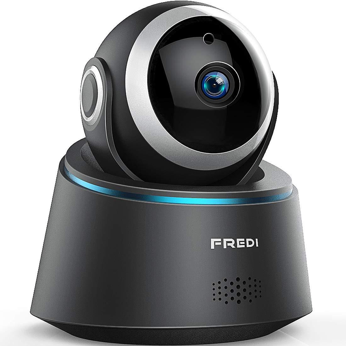WLAN IP Kamera 1080p Indoor, FREDI Full HD Ü berwachungskamera WLAN Camera Videoü berwachungksamera 350° /100° Schwenkbar mit Bewegungserkennung IR Nachtsicht Zwei Wege Audio Babyphone Diebstahlschutz