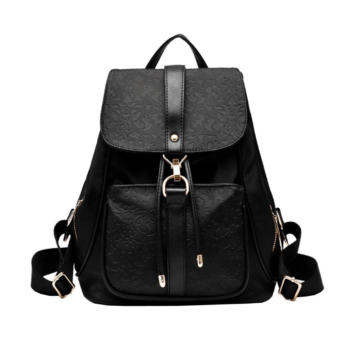Black One Size LAIDAYE Ladies Shoulder Bag Backpack Travel Bag Waterproof PU Bag Ladies Shoulder Bag