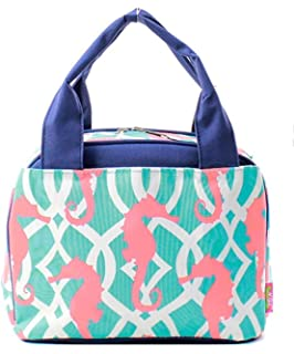 N. Gil Women and Childrens Insulated Lunch Bag (Seahorse)
