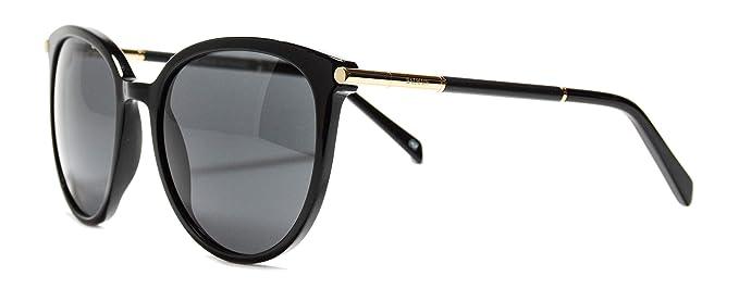 76e10f060b892 Amazon.com  Sunglasses Balmain BL2125 01 Black round sunglasses Size ...