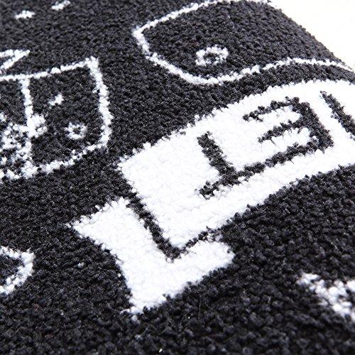 Carvapet 2 Piece Microfiber Non-Slip Kitchen Mat Rubber Backing Doormat Runner Rug Set, Cozinha Design (Black 15''x47''+15''x23'') by Carvapet (Image #4)