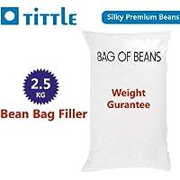 TITTLE Silky Beans 2.5 KG Premium A-Grade for Bean Bag Filler/Refill/Filling.