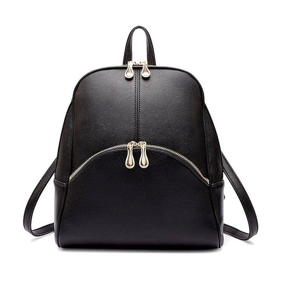 HynbaseレディースPUソフトレザーかわいいバックパックSchoolbag Shoulder Bag B01C7BNN8K ブラック
