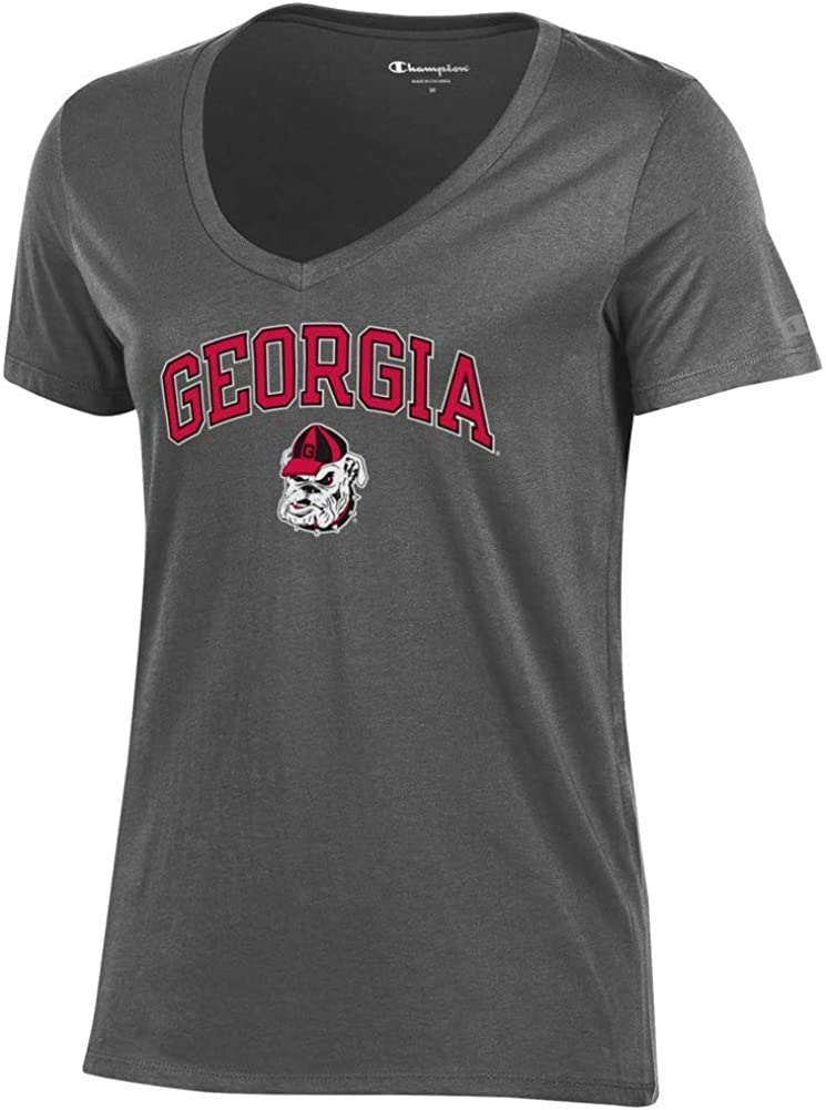 Elite Fan Shop NCAA Womens V Neck Tshirt Dark Heather
