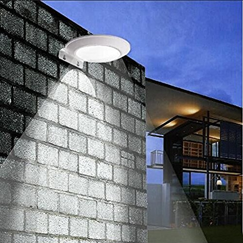 2 Pack Solar Motion Sensor Wall Light, Super Bright 16 LEDs Outdoor Wireless Microwave Spotlight Security Weatherproof Porch Light for - Sconce Twin Arm