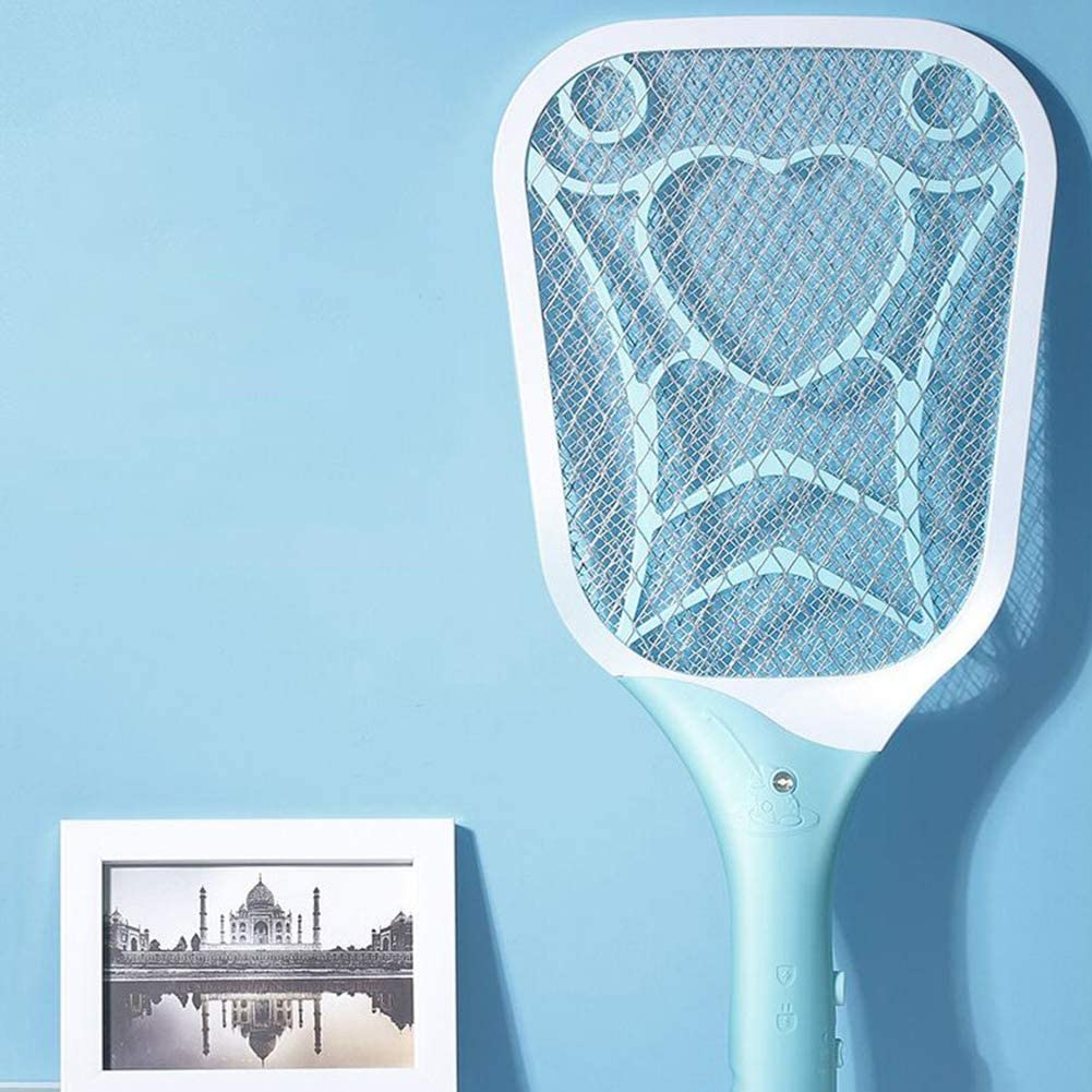 Fly Killer Safe to Touch Bug Zapper Racket USB Rechargeable Mosquito Electric Bug Zapper Swatter
