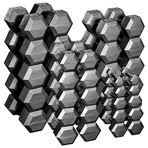 Body Solid Hex Dumbbell Pairs 5-100lbs. by Body-Solid