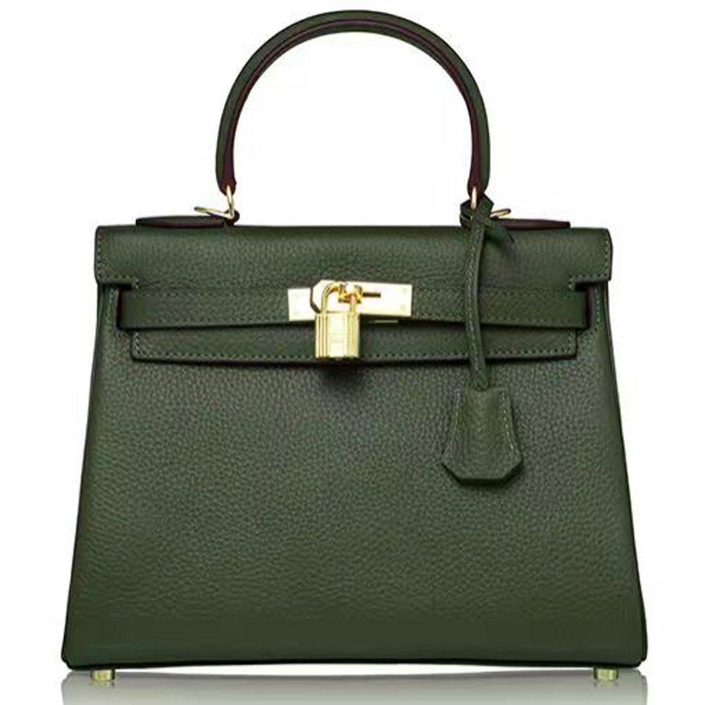 Erste Schicht aus Leder Damenhandtasche Schultertasche Messenger Bag Mehrzweck MC-8030 (Braun) YS-MC-00042