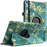 """TiMOVO All-New Fire HD 10 Case (7th Generation, 2017 Release) - Ultra Lightweight Slim 360 Degree Rotating Cover with Auto Wake/Sleep Function for Amazon Fire HD 10 Tablet 10.1"""", Almond Blossom"""