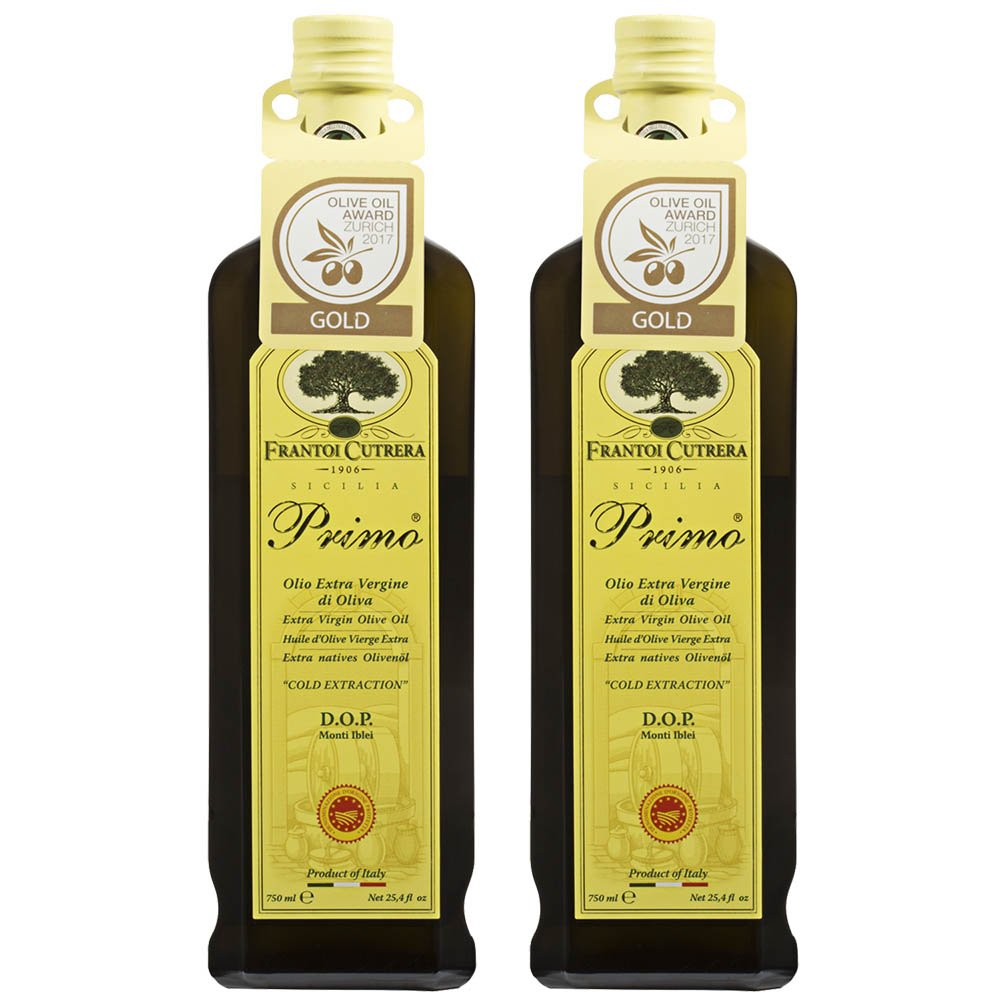 Frantoi Cutrera - Primo - Cold Extracted Extra Virgin Olive Oil, Imported from Italy, 24.5 fl oz - Pack of 2