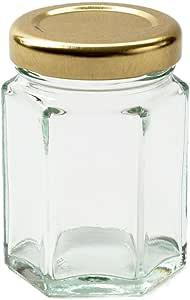 Nutley's 12 Hexagonal 110ml (4oz) Glass Jam, Chutney, Preserve Jars