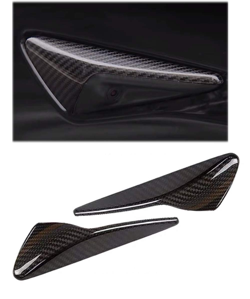 Pikki for Tesla Model 3 S X Carbon Fiber Side Markers Turn Signal Covers