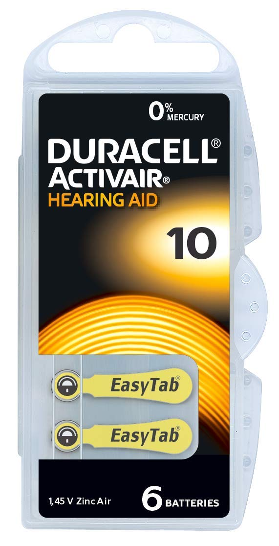 Hörgerätebatterien Vergleich Duracell 10