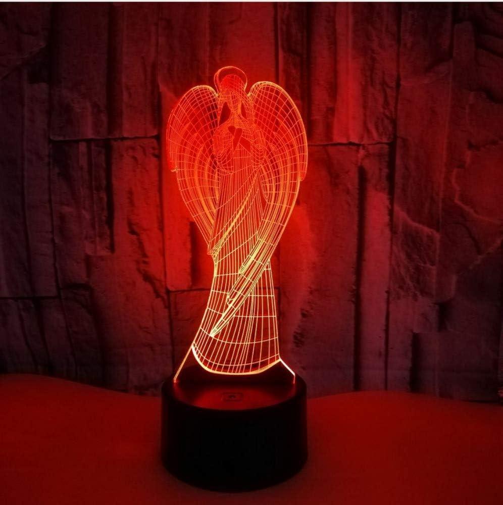 Nachtlicht-Fernber/ührungs-bunte Geschenke der Engels-3d LED Kinderleuchten der Lampen-3d