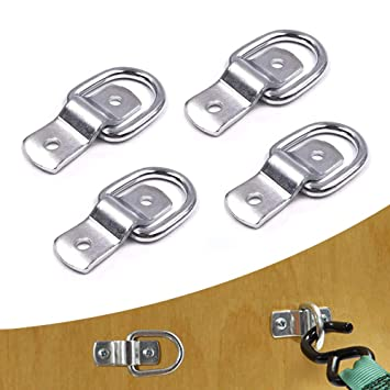 Tying Down Motor Bikers Deliveries ATVs A7848F A ABIGAIL D Ring Tie Down Anchor 1//4 Heavy Duty Steel Surface Mount Tie Down Ring for Loads on Trailer Cargo Control Kayaks