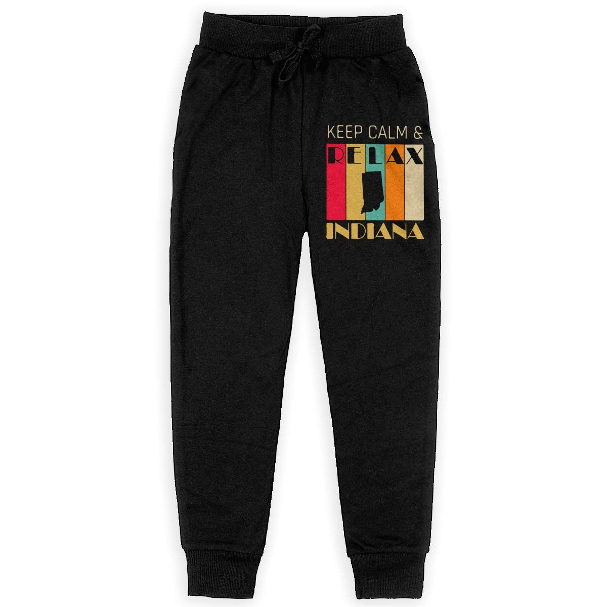 Youth Athletic Pants for Teen Girls WYZVK22 Keep Calm /& Relax Indiana Soft//Cozy Sweatpants
