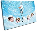 Bold Bloc Design - Disney Frozen Movie Greats 90x60cm SINGLE Canvas Art Print Box Framed Picture Wall Hanging - Hand Made In The UK - Framed And Ready To Hang