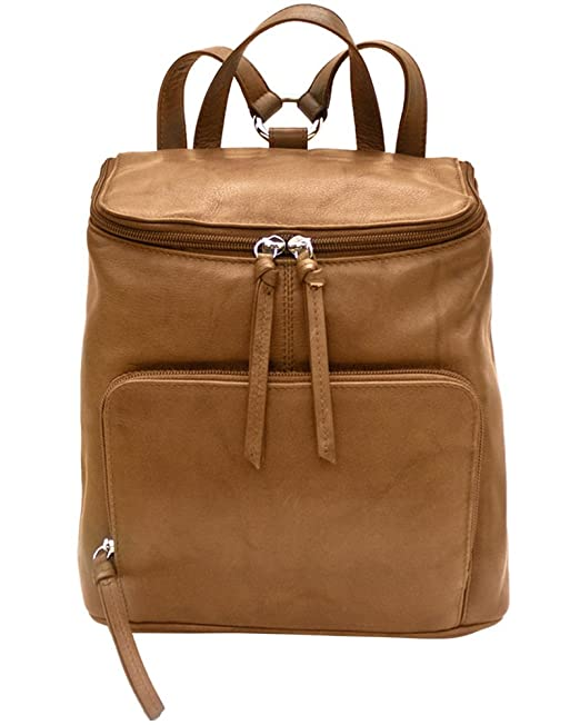 uk store recognized brands vivid and great in style ili Leather 6502 Backpack Handbag with RFID Lining