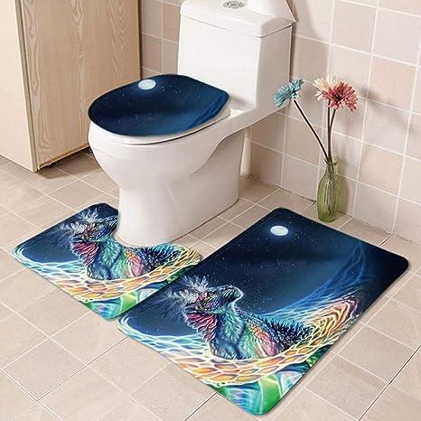 Enjoyable Amazon Com Mmyp Toilet Three Piece Bathroom Anti Slip Mat Ibusinesslaw Wood Chair Design Ideas Ibusinesslaworg
