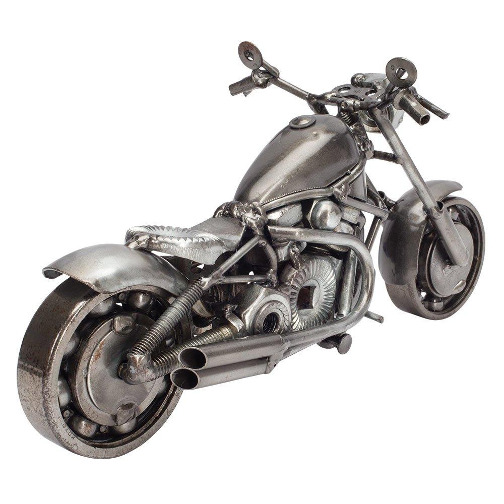 Handcrafted Metal Motorcycle HDVR Sculpture
