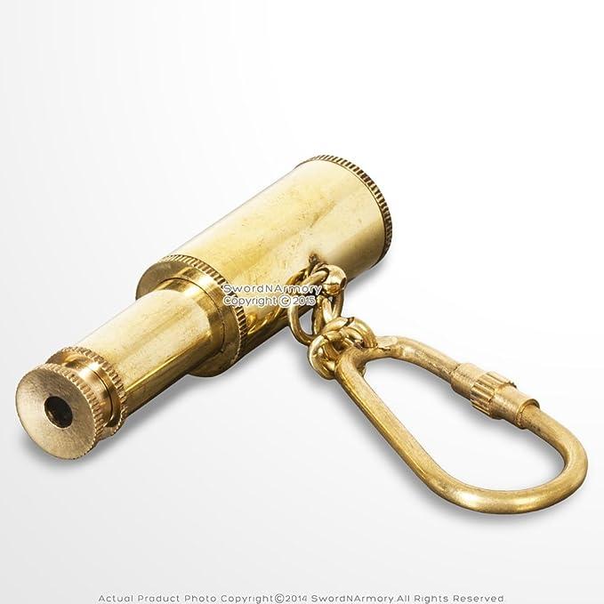 Amazon.com: Latón hecho a mano miniatura Telescopio Eyeglass ...