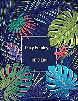 daily employee time log hourly log book worked tracker employee