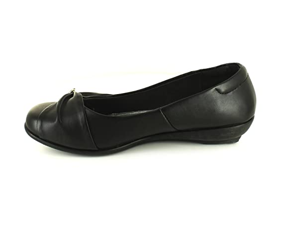 Us Brass New Girls/Childrens Black Ballerina Shoeswith Heart Diamante to Toe  - Black - UK Sizes 1-13: Amazon.co.uk: Shoes & Bags