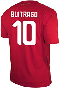 New Balance BUITRAGO #10 Panama Home Soccer Men's Jersey FIFA World Cup Russia 2018